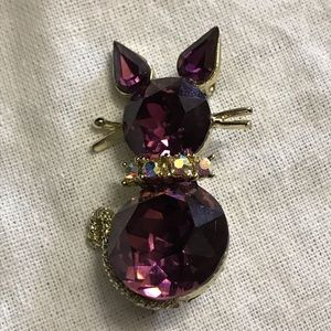 Jewelry - Vintage Dodds cat brooch
